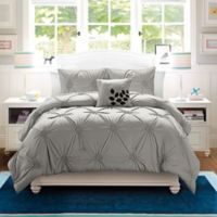 VCNY London 4-Piece King Comforter Set in Grey