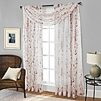 Willow Print Window Scarf Valance in Red