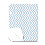 kushies® Deluxe Flannel Chevron Changing Pad in Blue