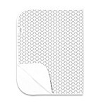 kushies® Deluxe Flannel Ornamental Lattice Changing Pad in Grey