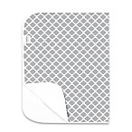 kushies® Deluxe Flannel Lattice Changing Pad in Grey