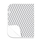 kushies® Deluxe Flannel Chevron Changing Pad in Grey