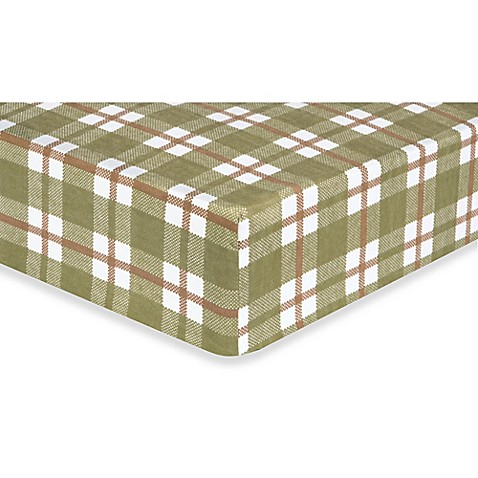 Trend Lab 174 Deer Lodge Plaid Flannel Fitted Crib Sheet