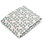 kushies® Flannel Portable Play Pen Fitted Sheet in Petal Grey