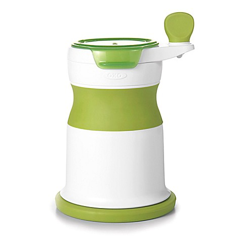 Oxo Mash Maker Baby Food Mill In White Green Bed Bath