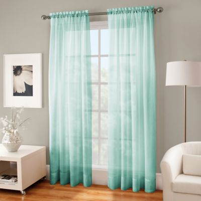 Crushed Voile Sheer 84 Inch Rod Pocket Window Curtain Panel In Mint