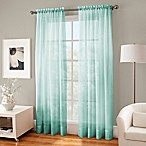 Crushed Voile Sheer 63-Inch Rod Pocket Window Curtain Panel in Mint