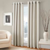 Majestic 84-Inch Blackout Lined Grommet Window Curtain Panel in Cream