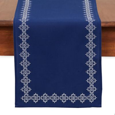 Mosaic Tile Embroidered Table Runner