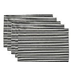 Black Petite Stripe Placemat (Set of 6)