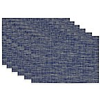 Tonal Tweed Placemats in Nautical Blue (Set of 6)