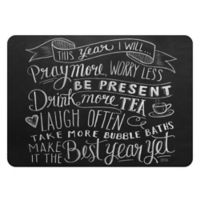 Premium Comfort by Weather Guard™ 22 x 31-Inch New Year Kitchen Mat in Black/White
