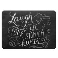 """Premium Comfort by Weather Guard™ 22 x 31-Inch """"Laugh Till"""" Mat in Black/White"""