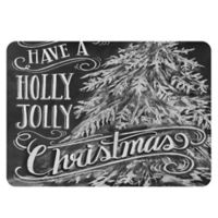 Premium Comfort by Weather Guard™ 22-Inch x 31-Inch Holly Jolly Kitchen Mat in Black/White