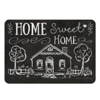 "Premium Comfort by Weather Guard™ 22-Inch x 31-Inch ""Home Sweet Home"" Kitchen Mat in Black/White"