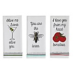 Love You Printed Towels (Set of 3)