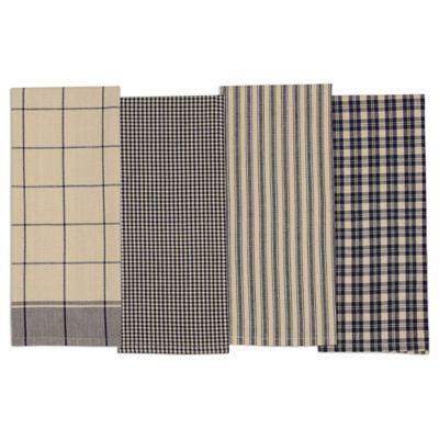 Navy Kitchen Towel (Set Of 4)
