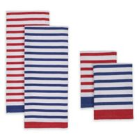 Nautical Stripe Kitchen Towel and Dish Cloth (Set of 4)