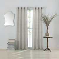 Anthology™ Lucca 108-Inch Grommet Top Window Curtain Panel in Grey