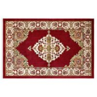 Westwood Floral 2-Foot 3-Inch x 3-Foot 7-Inch Accent Rug in Red
