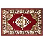 Westwood Medallion 3-Foot 1-Inch x 4-Foot 6-Inch Accent Rug in Red