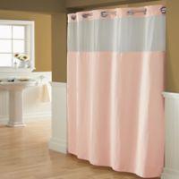 HooklessR Waffle 54 Inch X 80 Fabric Shower Curtain In Blush