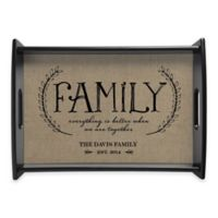"""""""Family"""" Handled Serving Tray in Beige"""
