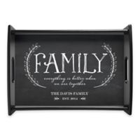 """""""Family"""" Handled Serving Tray in Grey"""