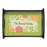 """""""Live, Love, Laugh"""" Handled Serving Tray"""