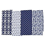 Blue Market Kitchen Towels (Set of 4)