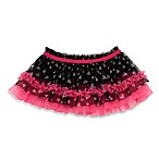Baby Starters® Size 6M Foil Heart Tutu Skirt with in Black/Pink