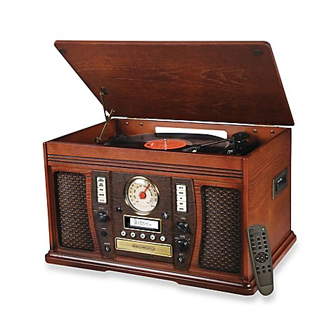 Victrola Aviator Wooden 7 In 1 Nostalgic Record Player