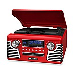 Victrola™ Retro Record Player Stereo with Bluetooth® and USB Digital Encoding in Red