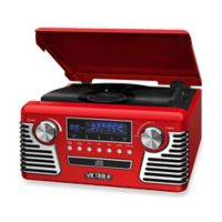 Victrola Retro Stereo with Turntable in Red