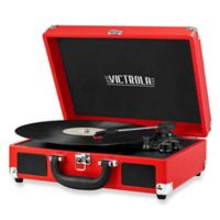 Victrola 3-Speed Suitcase Turntable in Red