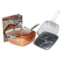 Copper Chef™ 5-Piece Deep 9.5-Inch Square Pan Set