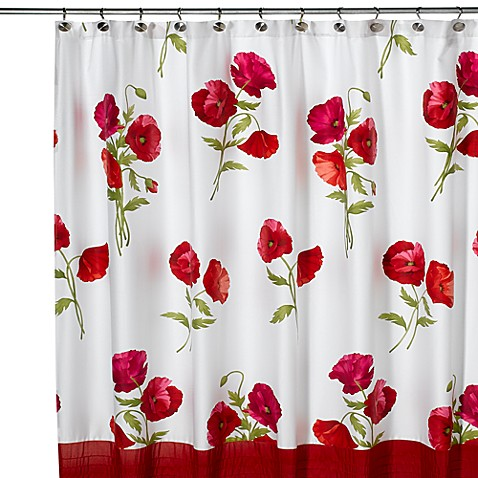 Red Poppies Shower Curtain - Bed Bath & Beyond