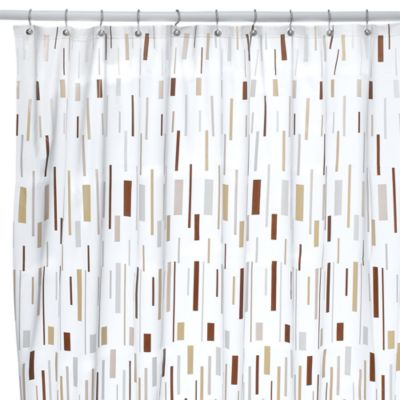 Bars Beige Shower Curtain Buy White Curtains from Bed Bath  Beyond