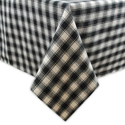 French Check 52 Inch X 52 Inch Tablecloth
