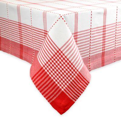 Radish Plaid 60 Inch X 84 Inch Tablecloth