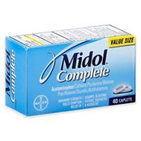 Midol® Complete 40-Count Pain Reliever Diuretic Antihistamine Caplets in Maximum Strength