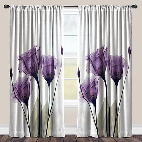 Laural Home 174 Lavender Hope Rod Pocket Sheer Window Curtain