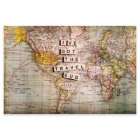 """Marmont Hill """"I've Got The Travel Bug"""" 45-Inch x 30-Inch Canvas Wall Art"""