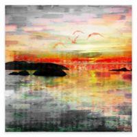 Parvez Taj Birds In The Sunset 18-Inch x 18-Inch Canvas Wall Art