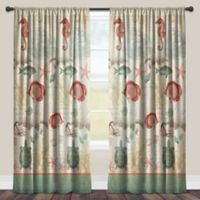Laural Home® Seaside Postcard 95-Inch Rod Pocket Sheer Window Curtain Panel in Green