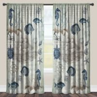 Laural Home® Seaside Postcard 84-Inch Rod Pocket Sheer Window Curtain Panel in Blue