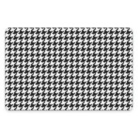 Premium Comfort by Weather Guard™ 22-Inch x 31-Inch Houndstooth Kitchen Mat in Black/White