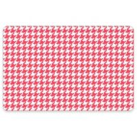 Premium Comfort by Weather Guard™ 22-Inch x 31-Inch Houndstooth Kitchen Mat in Coral/White