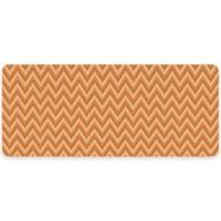 Premium Comfort by Weather Guard™ 22-Inch x 52-Inch Chevron Weave Kitchen Runner in Tangerine