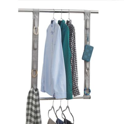 Studio 3B™ Closet Rod Hanging Extension With Fabric Straps In Grey